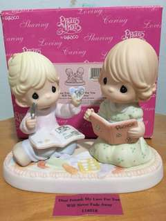 Precious Moments Girls Figurine: Dear Friend, My Love for you will never fade away