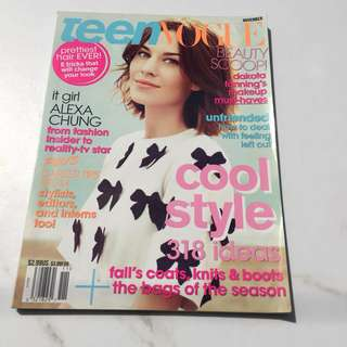 Teen Vogue Cool Style Edition w/ Alexa Chung as Cover