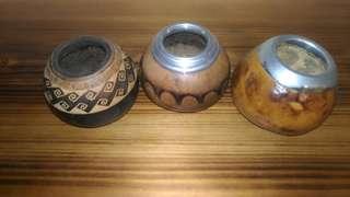 古董裝飾瑪黛茶壺1(阿根廷)