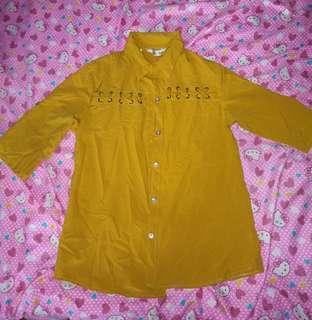Yellow 3/4 Sleeve Top