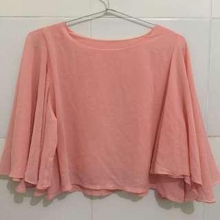 Baju atasan peach