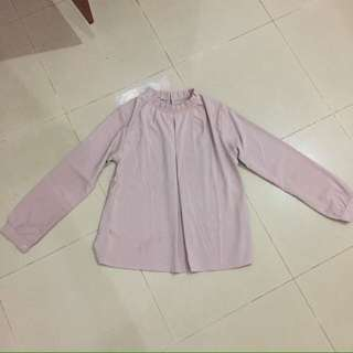 Atasan dusty pink