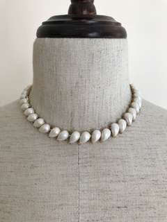 Vintage Pearl water drops shape 珍珠頸鏈 choker necklace