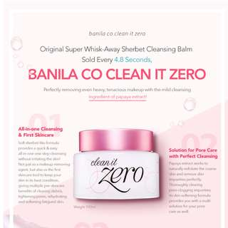 New! [Banila co] Original Clean It Zero Cleansing Balm [Next Day Shipping]