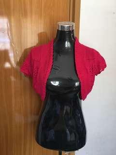 Fushia Cropped Cardigan