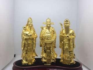 RISIS Fu Lu Shou Figurines ,6inch