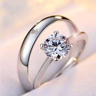 Promise Couple Rings S925 Silver