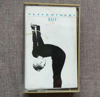 arthcs PETER MURPHY (BAUHAUS) Deep Cassette Tape (Cuts You Up, Seven Veils, Deep Ocean Vast Sea etc)