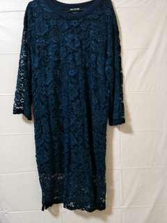 Lace Dress(Dark Blue)
