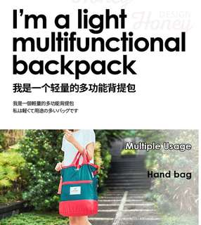 Unisex multi-functional trendy backpack