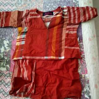 Baju kurung (Kotak2 brown)