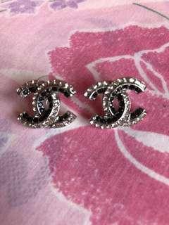 BN CC silver earrings