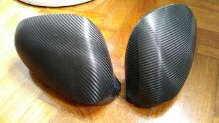 Alfa 159 Wing mirror caps in carbon fibre wrap