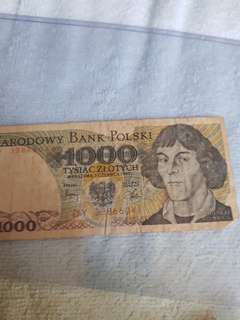 $1000 Narodowy bank polski