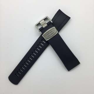 """Curved End Rubber Strap for Seiko """"New"""" Samurai Series (CB09) Navy Blue"""
