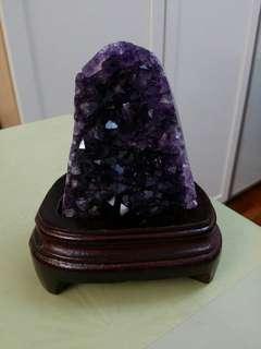 烏拉圭天然紫水晶擺設