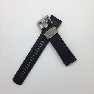 "Curved End Rubber Strap for Seiko ""New"" Samurai Series (CB09) Navy/Red"