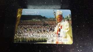 (1996年)電話卡(教宗圖像)懷舊