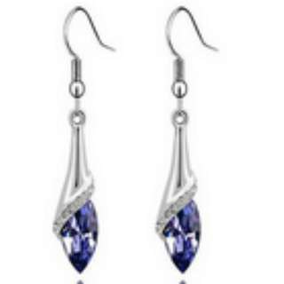 Crystal Marquise Cut  Dangle Earrings