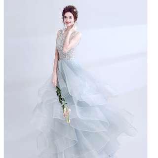 evening gown, wedding gown