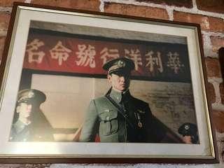 劉德華空軍做型掛畫包框