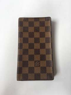 Authentic Louis Vuitton Damier Ebene Long Wallet