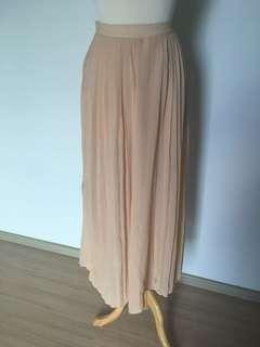 Chiffon champagne maxi Skirt