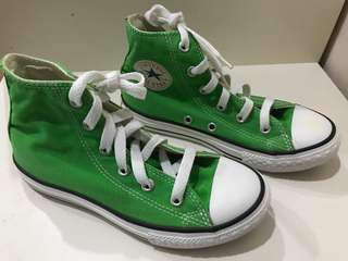 Converse ALL STAR for youths, green colour