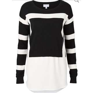 Witchery Crop Splice Knit