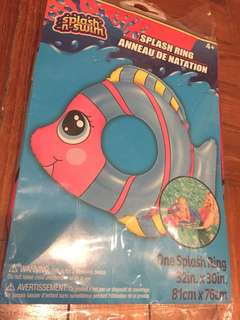 Brand new pink fish swim float