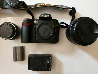 Di jual nikon D90 bekas mulus include lensa fix 50mm G , lensa kit 18 - 105 mm AFS , di jual all beserta tas , lengkap dengan charger , SDHC 8gb, flash YN 460 dengan trigger ( tdk di foto ) buka harga 8jt nego tipis, COD. Hub 081219641070