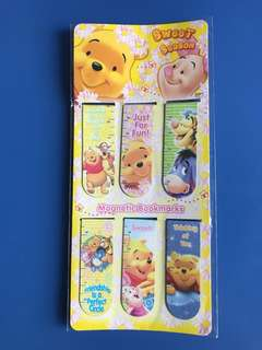 Winnie The Pooh Bear Magnetic Bookmark Set (6 pieces)