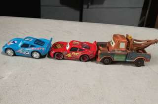 Disney cars movie mater and lightning mcqueen diecast