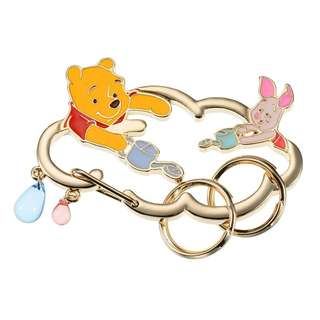 Japan Disneystore Disney Store Pooh & Piglet Pooh's Day Keychain with Carabiner
