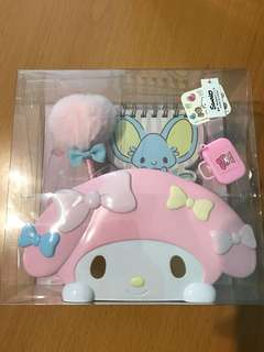 My melody pen stand and notebook - Sanrio