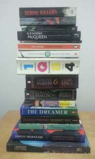 Assorted fiction and non-fiction books