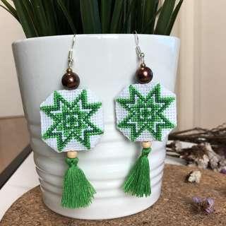 Maya ethnic tassel earrings