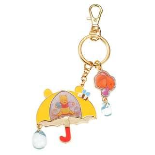 Japan Disneystore Disney Store Pooh Umbrella Pooh's Day Keychain
