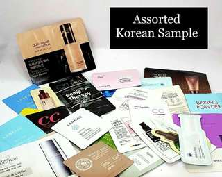 Assorted Korean Samples  [ON HAND]  Assorted Korean Samples  10 pcs for ₱100 only  No selection of items  #Missha #The Face Shop #Etude House #Cosrx #Laneige #Banila Co #Wangskin #Innisfree