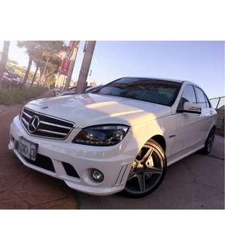 2009年  C300白色改63樣式     大桃園優質二手中古車買賣