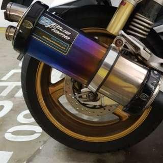Honda super four cb400 blue flame exhaust / pipe