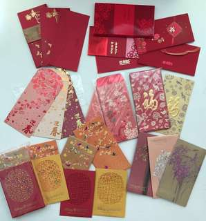 Red Packets, Various Selection incl Rare, details below