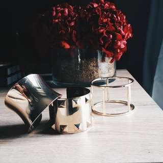 F21 Gold Cuffs (Set)