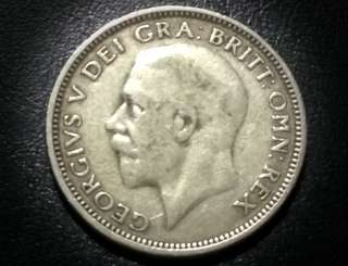 1927 Silver Shilling King George V from Great Britain
