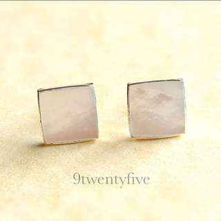 MOTHER DAY GIFT💖 ERN-065 • 925 Silver Mother of Pearl Stud Earring