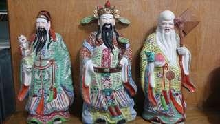 Fu Lu Shou Figurines