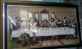 SALE! 52x30 The Last Supper Framed Embroidery