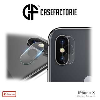 Guardar Say Cheese Camera Lens Tempered Glass for iPhone X