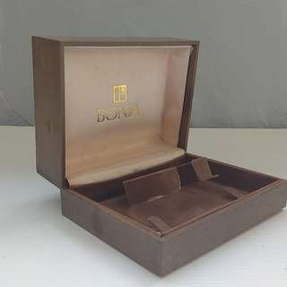 Rare Vintage BONIA Watch Casing, ITALY, Classic Brown Box, Luxury Brand, For Collector, For Display