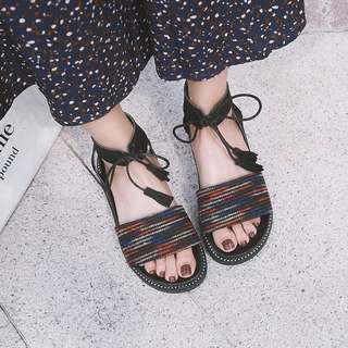 Bohemian Strap loafers sandals